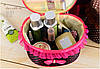 Тканевая косметичка Bow Storage Bag | красивая вместительная сумка для косметики | органайзер под косметику - Фото