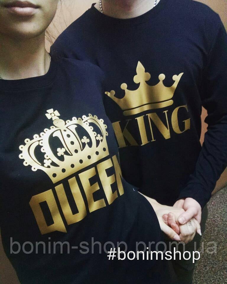 Черные свитшоты для пар King и Queen