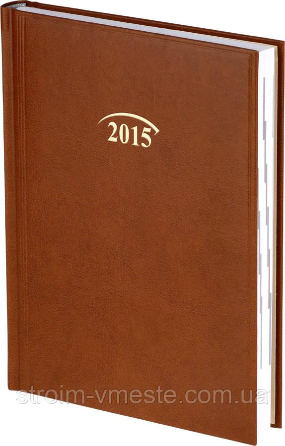 Ежедневник Стандарт Miradur 2015 коричневый 14,5 х 20,6 см (А5) 73-795
