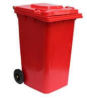 Пластиковый контейнер для мусора красный 240.0 (л)