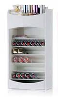 Белый компактный органайзер - шкафчик для хранения косметики COSMAKE LIPSTICK & NAIL POLISH ORGANIZER