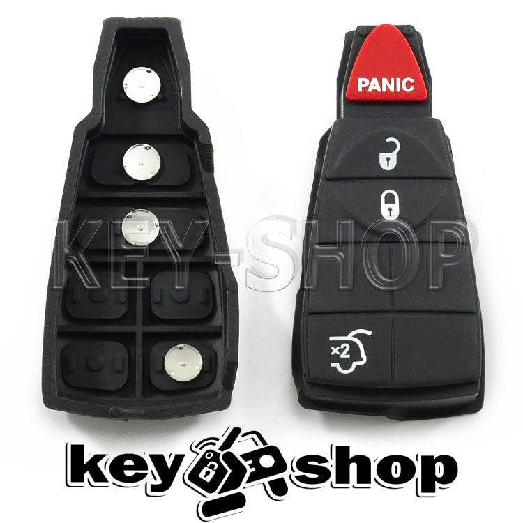Кнопки для смарт ключа Chrysler (Крайслер) 3 кнопки + 1 (panic)