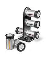 Набор баночек для специй и приправ Zevgo Magnetic Spice Stand из 6 сосудов | спецовник 6 шт