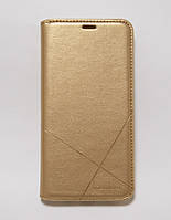 Чехол-книжка для смартфона Samsung Galaxy M10 2019 M105 золотая MKA, фото 1