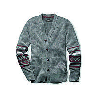 Кардиган Eddie Bauer Deer Valley Fair Isle MED HTR M Серый (0506MHGY)