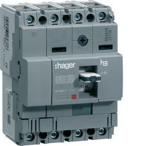 Автоматический выключатель  HDA161L  160A 4п, 18kA, Т. фикс./М. фикс.