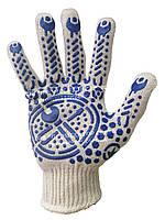 Перчатки трикотажные «Механик» с ПВХ покрытием  143М