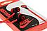 """Наушники """"Nike"""" без микрофона силикон плосский провод, красные, фото 2"""