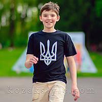 Футболка дитяча Тризуб чорна