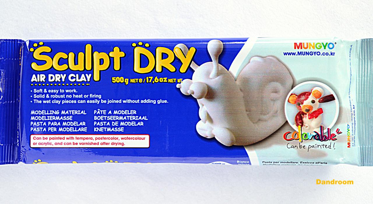 Масса для моделирования, белая, самозастывающая, 500 г., ''Sculpt Dry'', MUNGYO