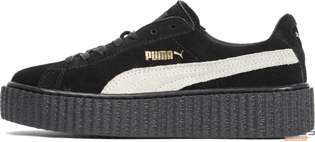 Женские кроссовки Rihanna x Puma Suede Creeper Black/White 362178 03, Пума Риана Сьюд