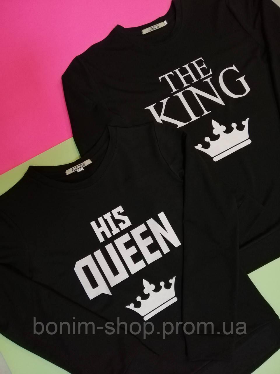 Кофты для влюбленных с принтом King & Queen