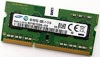 Оперативная память для ноутбука Samsung SODIMM DDR3L 4Gb 1600MHz 12800S 1R8 CL11 (M471B5173QH0-YK0) Б/У