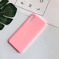 Чехол Soft Touch для Samsung Galaxy A70 2019 (A705) силикон бампер светло-розовый