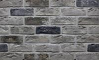 Облицовочная плитка Loft Brick Квебек Серый с подпалом 210x65 мм