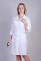 Халат медицинский женский белый с красивым дизайном