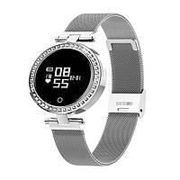 """Жіночий Смарт-браслет SUNROZ X10 смарт-годинник 0.66"""" 105 mAh Срібний (SUN4894), фото 1"""