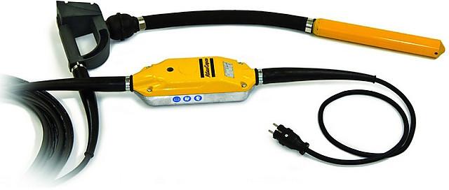 Электрические высокочастотные глубинные вибраторы Atlas Copco Smart-E с антивибрационной рукояткой