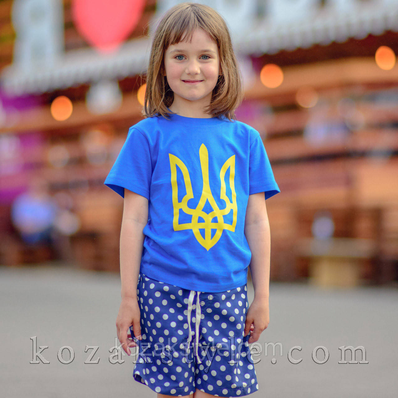 "Футболка дитяча ""Тризуб"" синя"