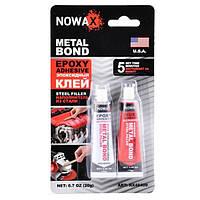 Эпоксидний клей Nowax Metal Bond NX 48409 стального цвета 20 г