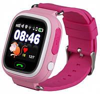 Умные детские часы Smart Baby Watch Q90 с GPS трекером (Оригинал) розовые