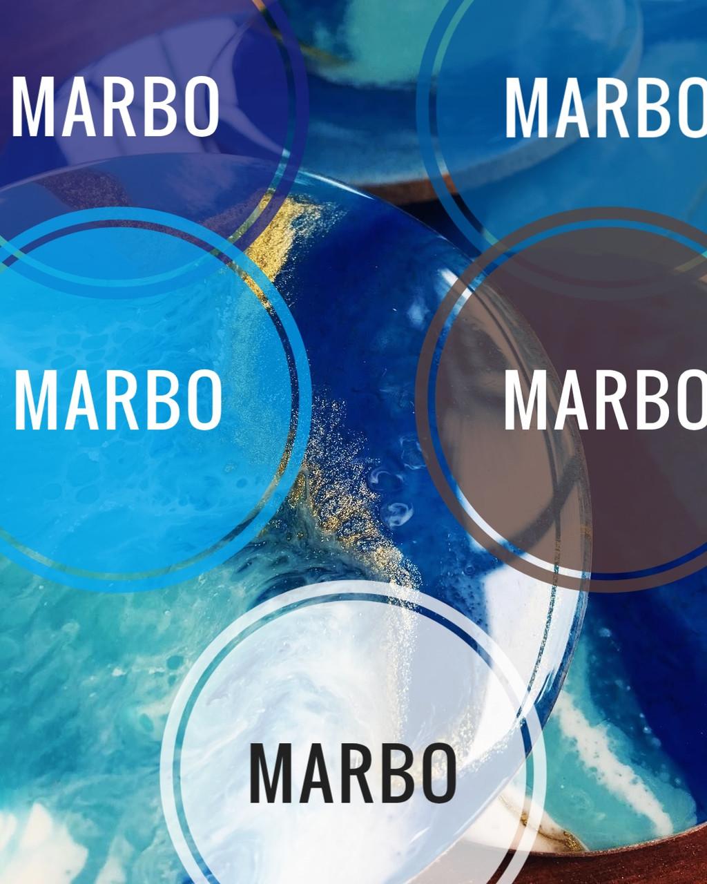 """Набор красителей """"Морской"""" Марбо Marbo (Италия), 5 шт х 5 мл, концентрированные"""