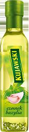 Рапсовое  масло Kujawski с чесноком и базиликом ,250 мл.