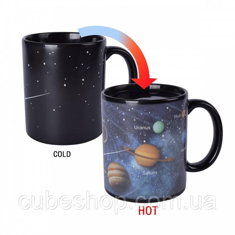 "Чашка хамелеон ""Солнечная система"" (330 мл)"