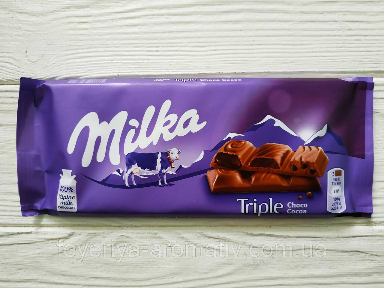 Шоколад Milka (Швейцария) Tripe Choco Cocoa