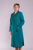 Халат медицинский женский зеленый длинный
