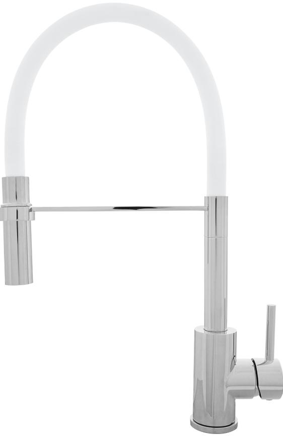 Хромовый смеситель Kernau KWT 20 PO Chrome/White