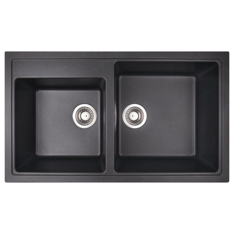Звоните. Будет дешевле. Кухонная мойка Apell Pietra Plus черная PTPL862GB