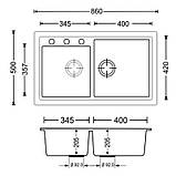 Звоните. Будет дешевле. Кухонная мойка Apell Pietra Plus белая PTPL862GW, фото 2