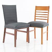 Чехлы на стулья на сиденье Сандра Nueva Textura 6 шт Серый