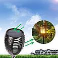 Фонарь Садовый 33 LED на Солнечной Батарее Факел с Датчиком Света, фото 7