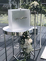 Свадебный декор: коробочка для денег с акрила, сундучок для денег, шкатулка, декор с акрила