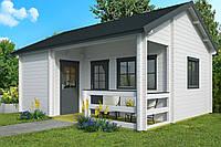 Дом деревянный из профилированного бруса 6х5.1. Кредитование строительства деревянных домов