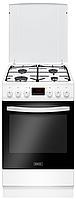 Белая кухонная плита Kernau KFC 5008 GE W