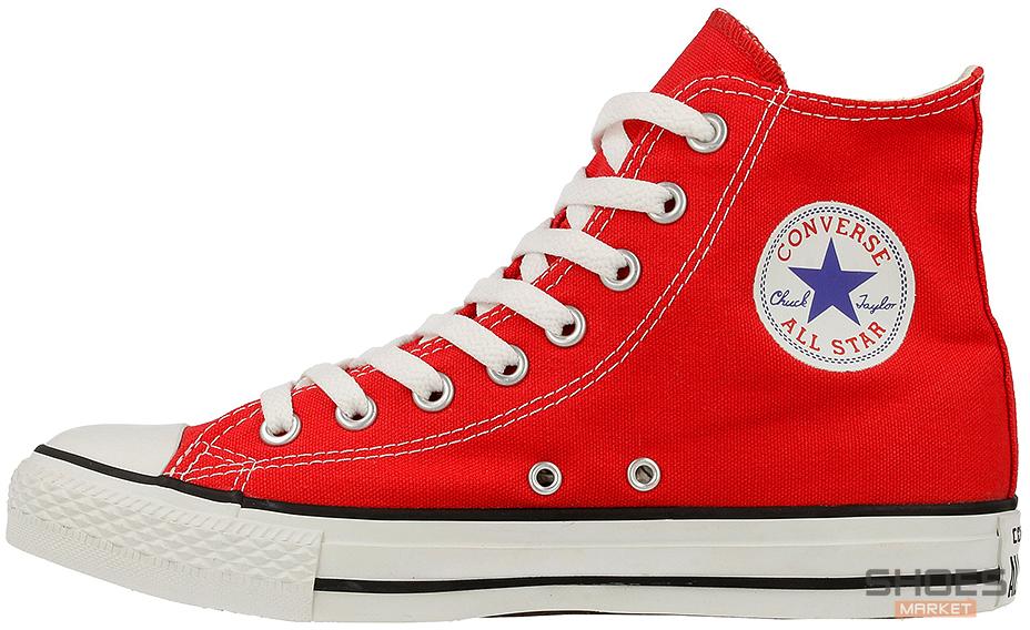 Женские кеды Converse All Star Hi Red M9621C, Конверс Ол Стар