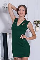 Симпатичное платье-футляр из французского трикотажа с оригинальными бретелями  Selesta