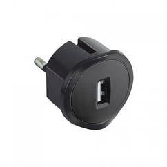 Адаптер з USB зарядкою чорний