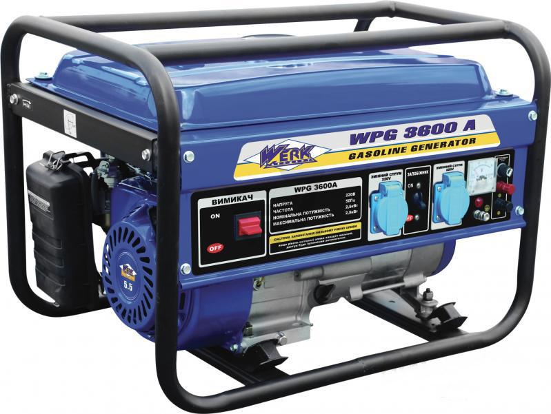 Генератор бензиновый WERK WPG 3600A (2,5 кВт)