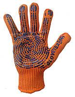 Перчатки с ПВХ оранжевые усиленные