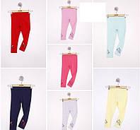 Лосины для девочки 3-6 лет синего, серого, мятного, розового, желтого, малинового цвета оптом
