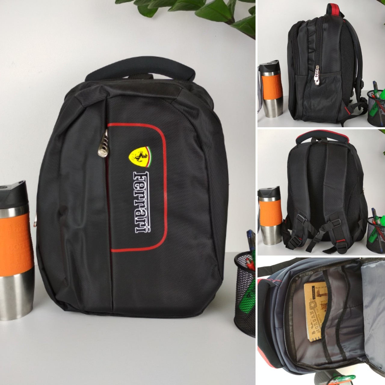 Школьный рюкзак для мальчика подростка Ferrari 37*28*17 см
