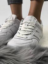 Женские кроссовки New Balance 574 All White,  нью беланс 574, фото 3