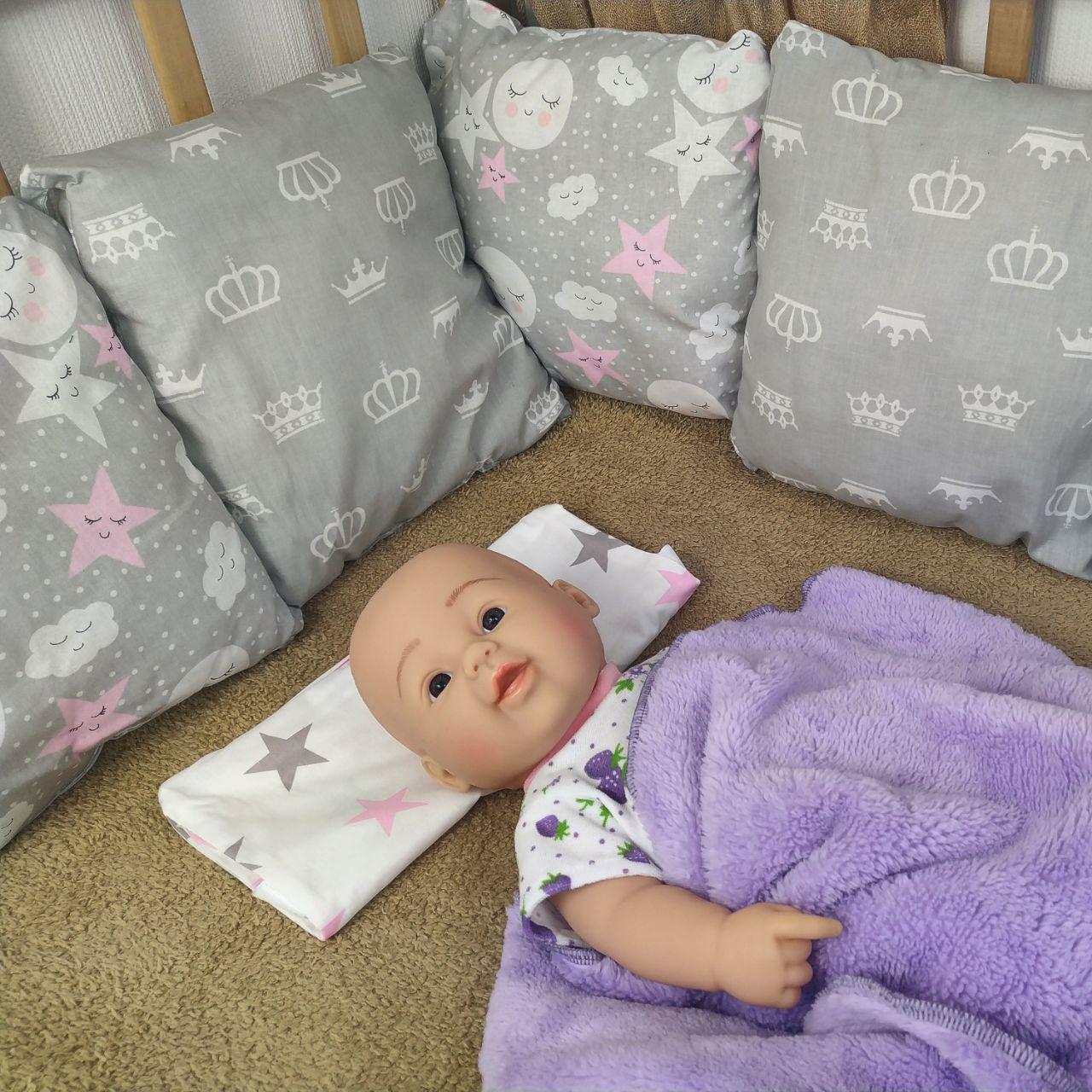Защитные бортики-подушки  в детскую кроватку | Захисні бортики-подушки в дитяче ліжечко