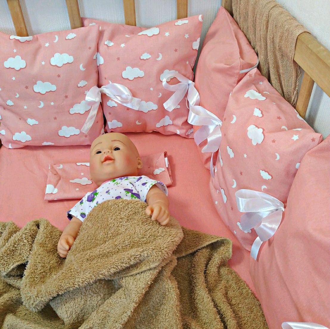 Защита со сьемными наволочками в детскую кроватку | Захист зі зйомними наволочками в дитяче ліжечко
