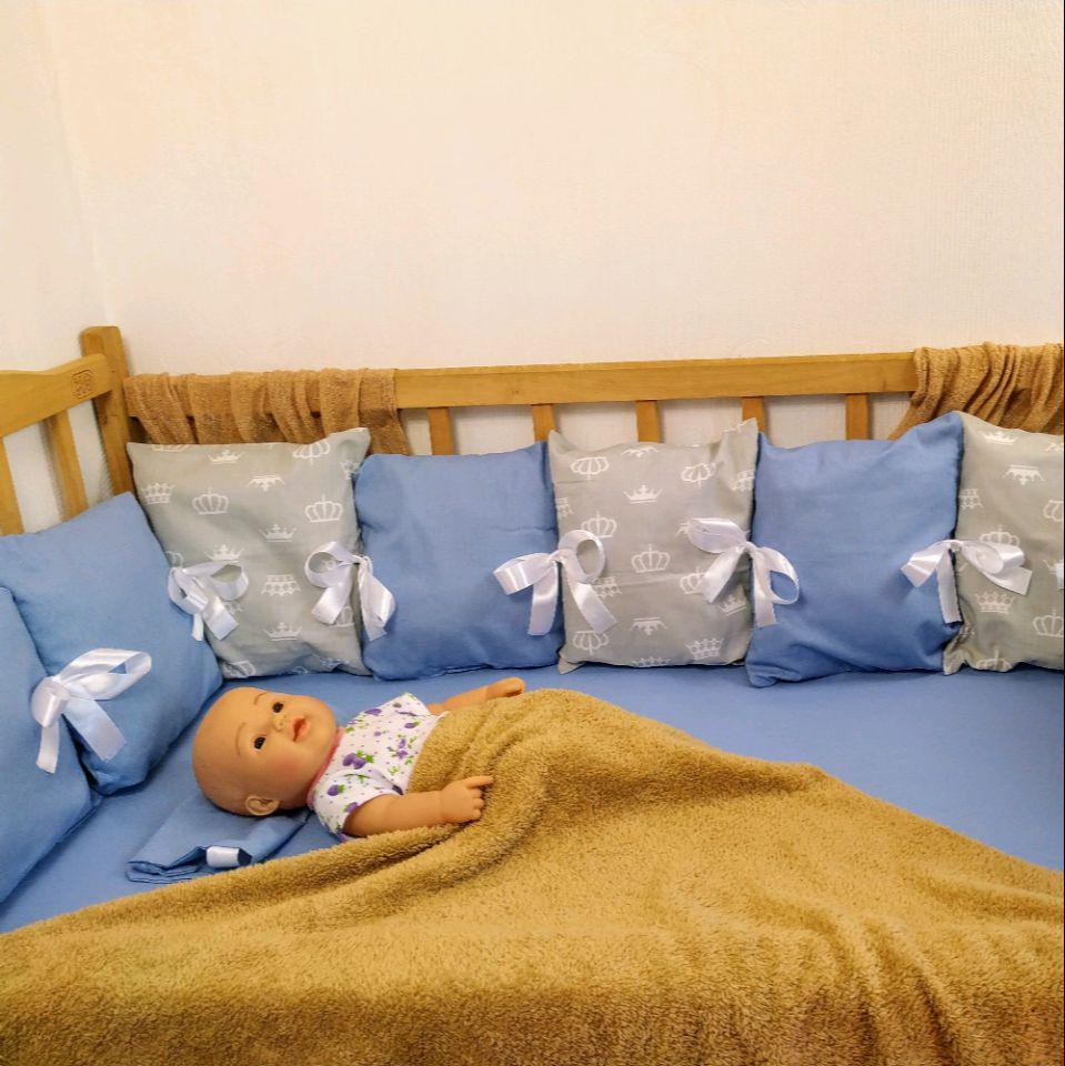 Защита со сьемными наволочками в детскую кровать    Захист зі зйомними наволочками в дитяче ліжко