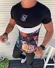Мужская футболка в стиле Sik Silkчерная